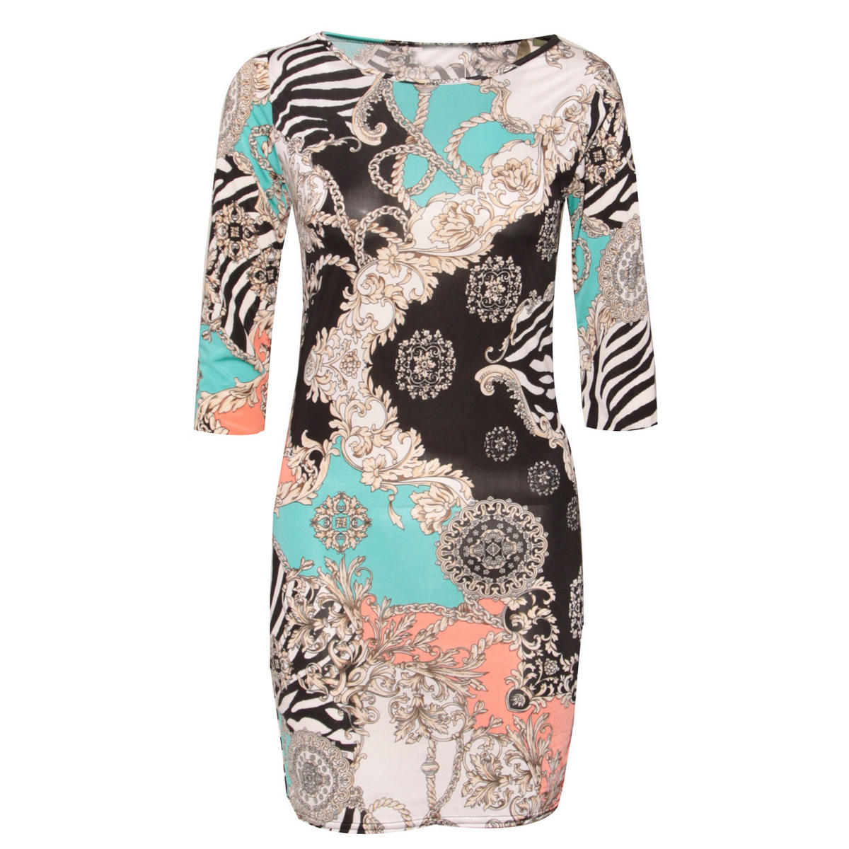 Pastel Chain Print Bodycon Dress Preview