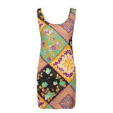 Scarf Print Bodycon Dress
