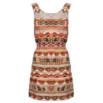 Lace Tribal Print Dress