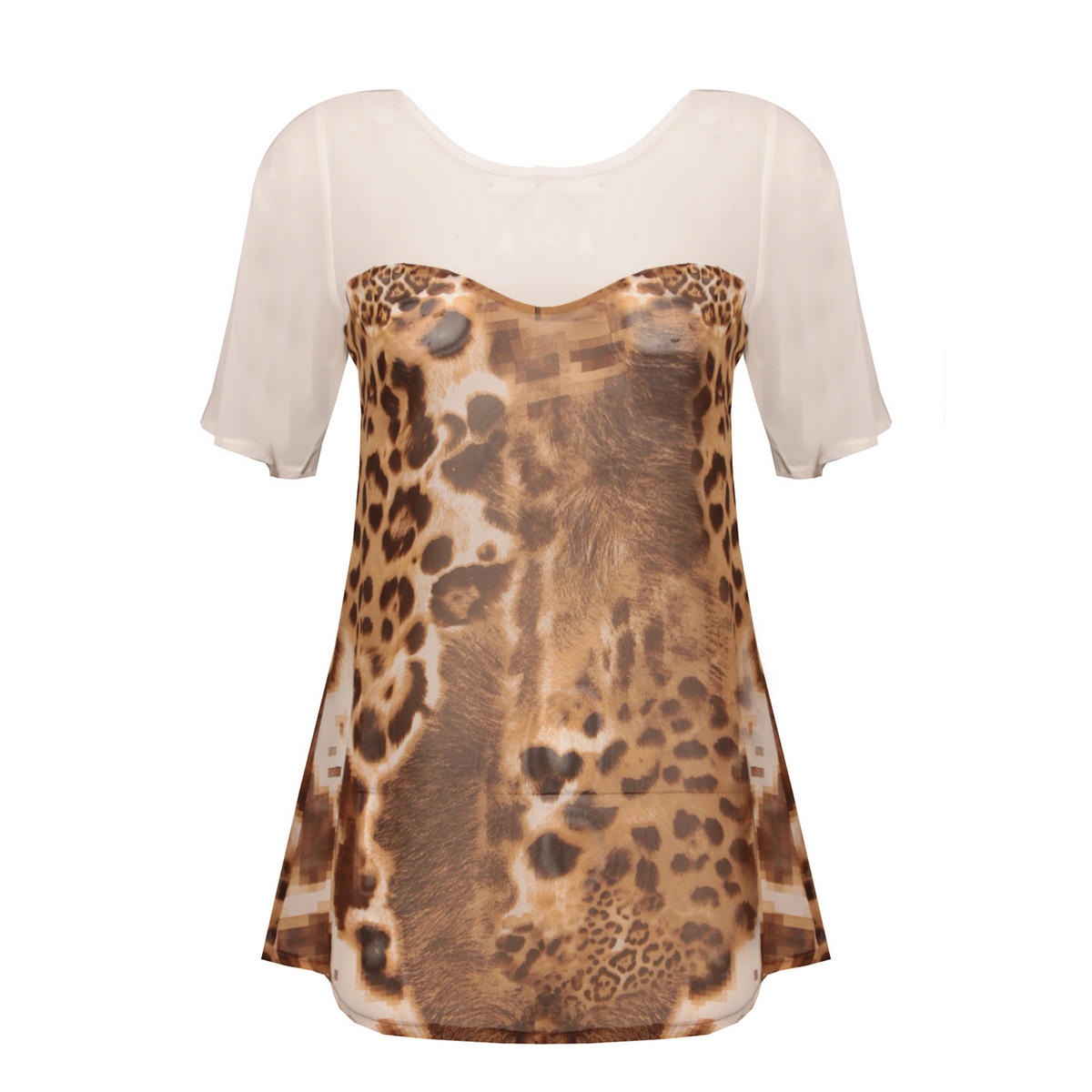 Leopard Print Sweetheart Top Preview