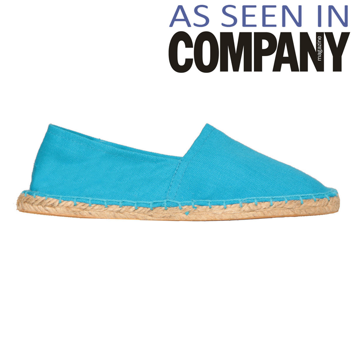 Blue Canvas Flat Shoe Preview