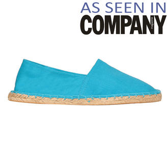 View Item Blue Canvas Flat Shoe