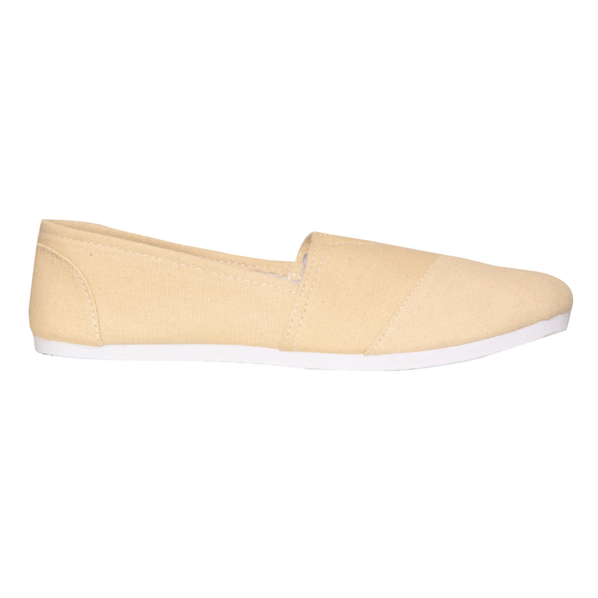 Cream Canvas Flat Shoe Preview