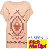 SIZE 12 ONLY Tribal Print Slouchy T-Shirt