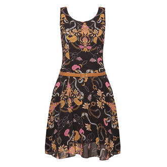 View Item SIZE 8/10 ONLY Chain Print Skater Dress