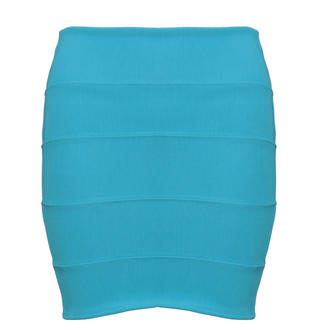 View Item Turquoise Bodycon Skirt