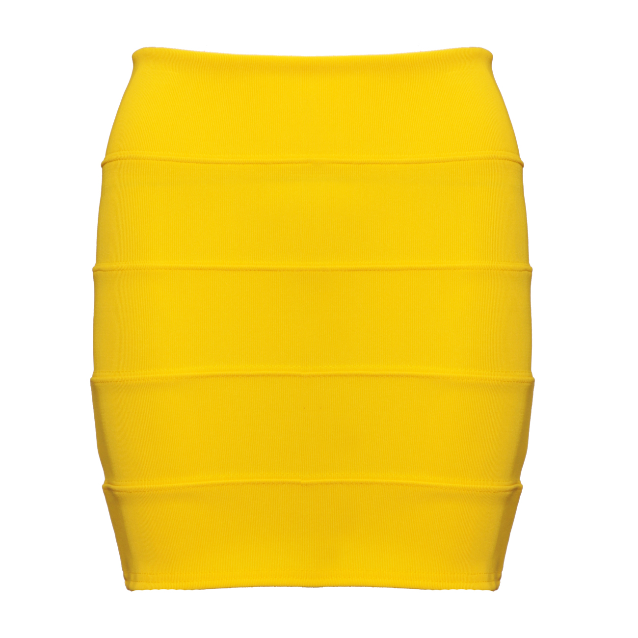 Yellow Bodycon Skirt Preview
