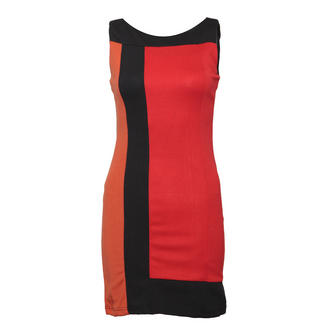 View Item Red Colour Block Shift Dress