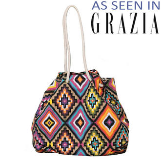 View Item Tribal Print Bag