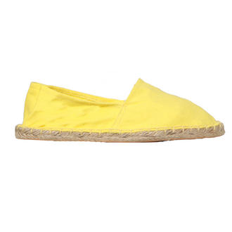 View Item Yellow Canvas Flat Shoe