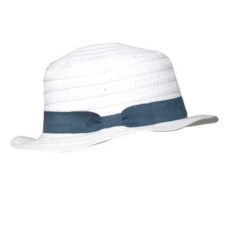 View Item White Straw Boater Hat