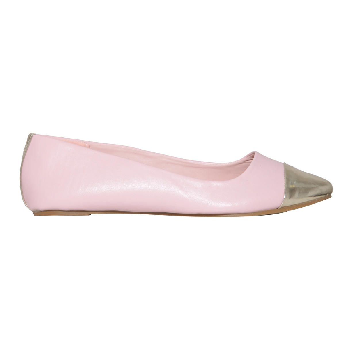 Pastel Metallic Toe Cap Flat Shoe Preview