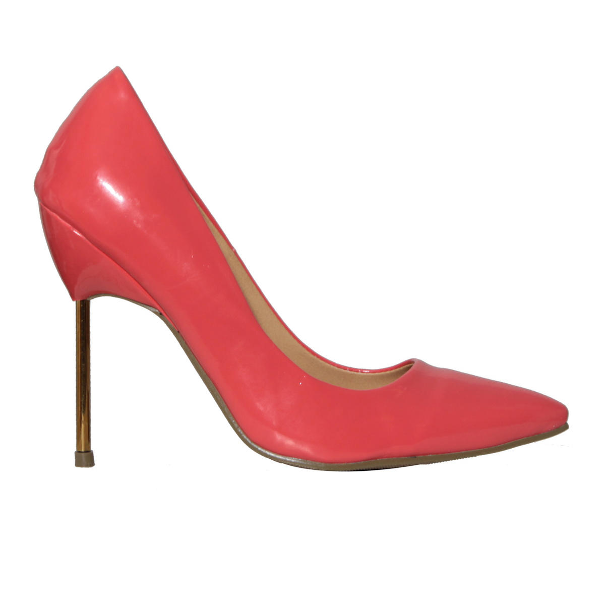 Coral Patent Spike Heel Shoe Preview