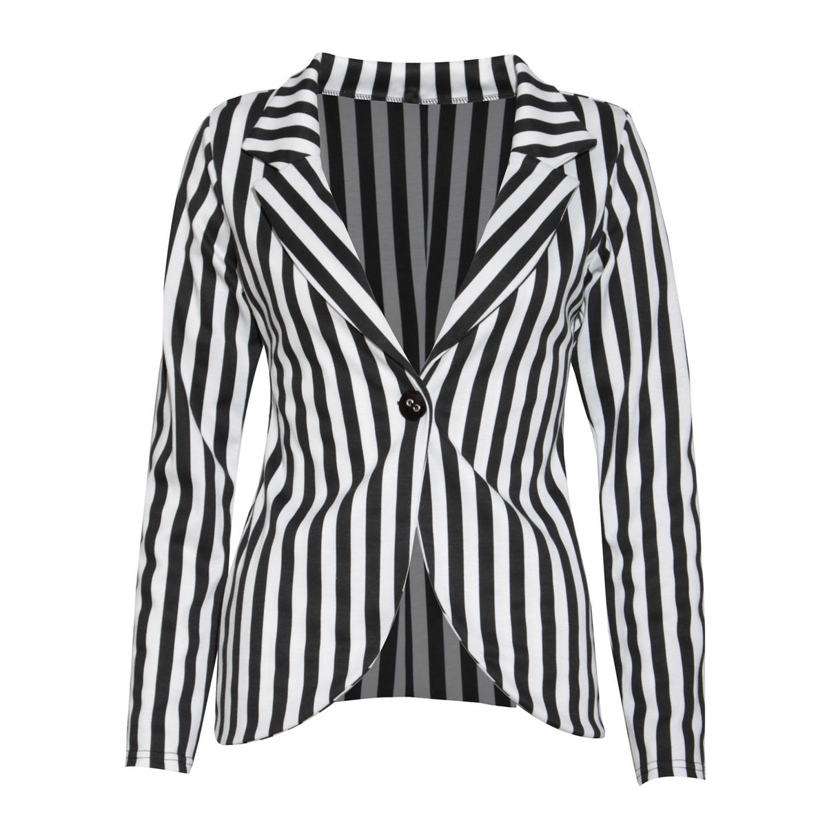 Monochrome Stripe Boyfriend Blazer Preview