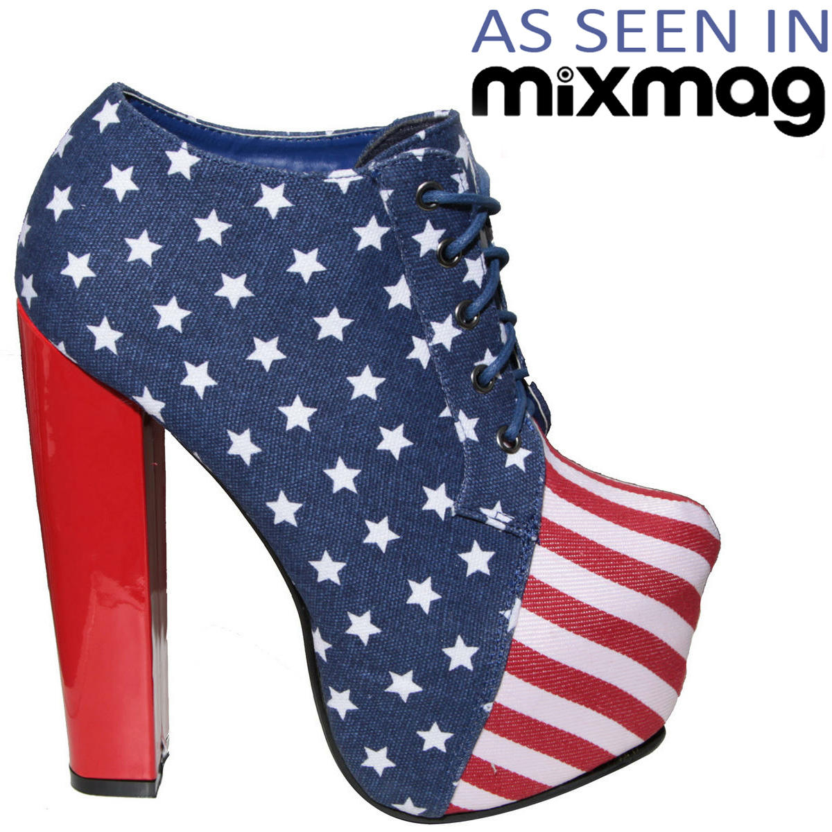 American Flag Lace Up Ankle Boot  Preview