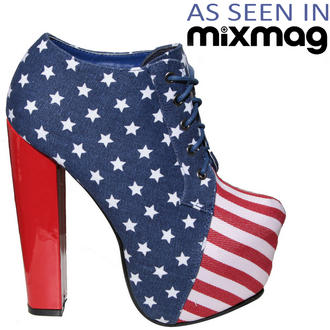 View Item American Flag Lace Up Ankle Boot 