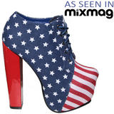 American Flag Lace Up Ankle Boot