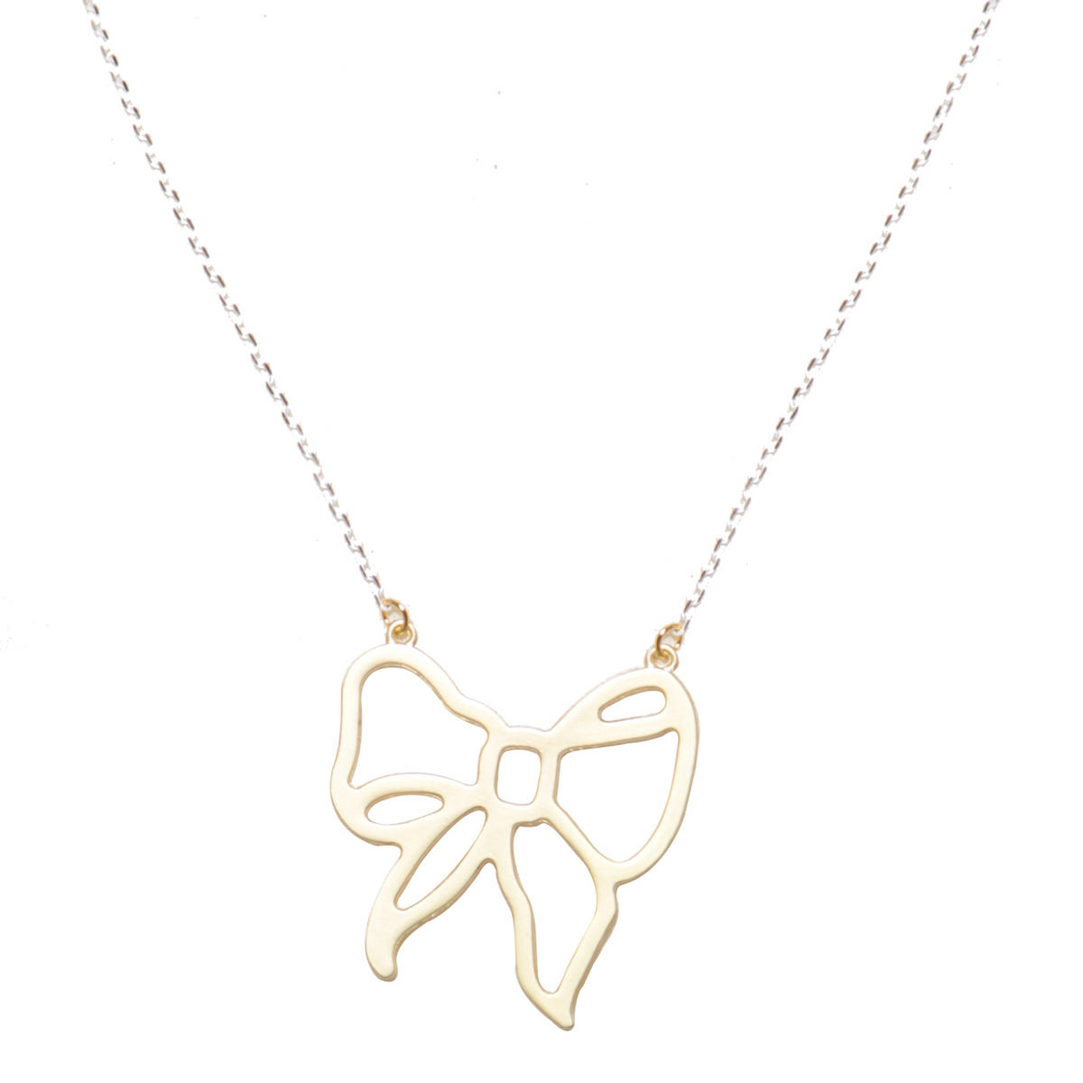 Gold Bow Pendant Necklace Preview