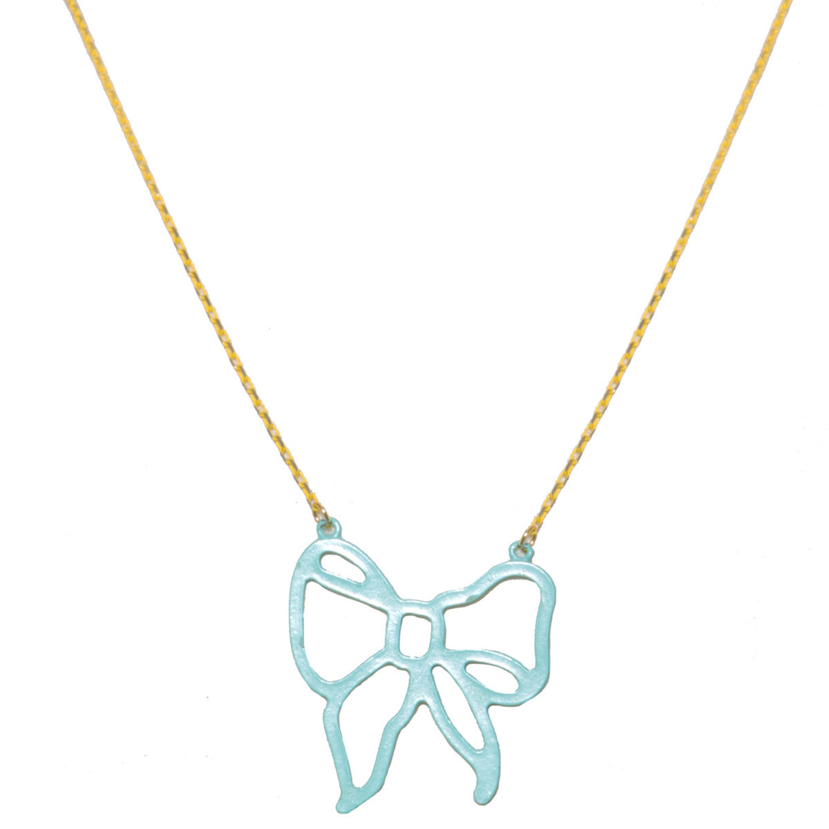 Green Bow Pendant Necklace Preview