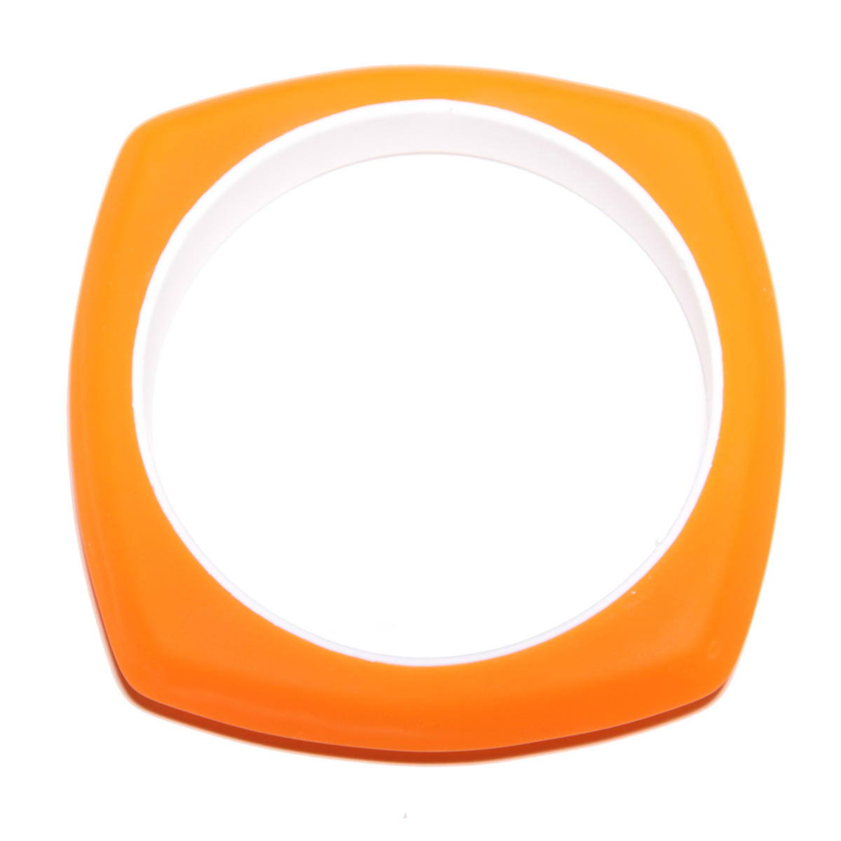 Neon Orange Rubber Bracelet Preview