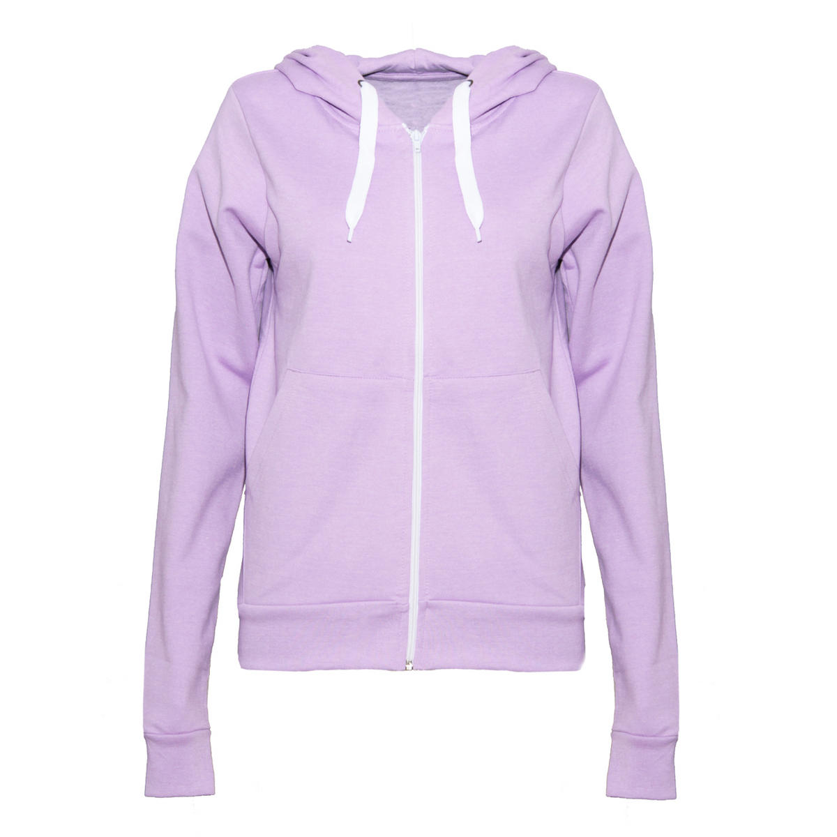 Pastel Purple Zip Through Hoodie Preview