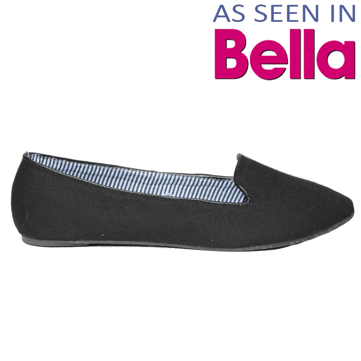 SIZE 4 ONLY Black Flat Slipper Shoe Preview