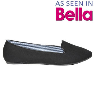 View Item SIZE 4 ONLY Black Flat Slipper Shoe