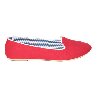 View Item Red Flat Slipper Shoe