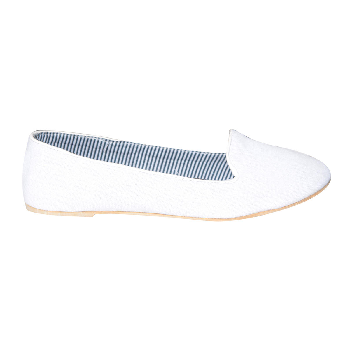 White Flat Slipper Shoe Preview