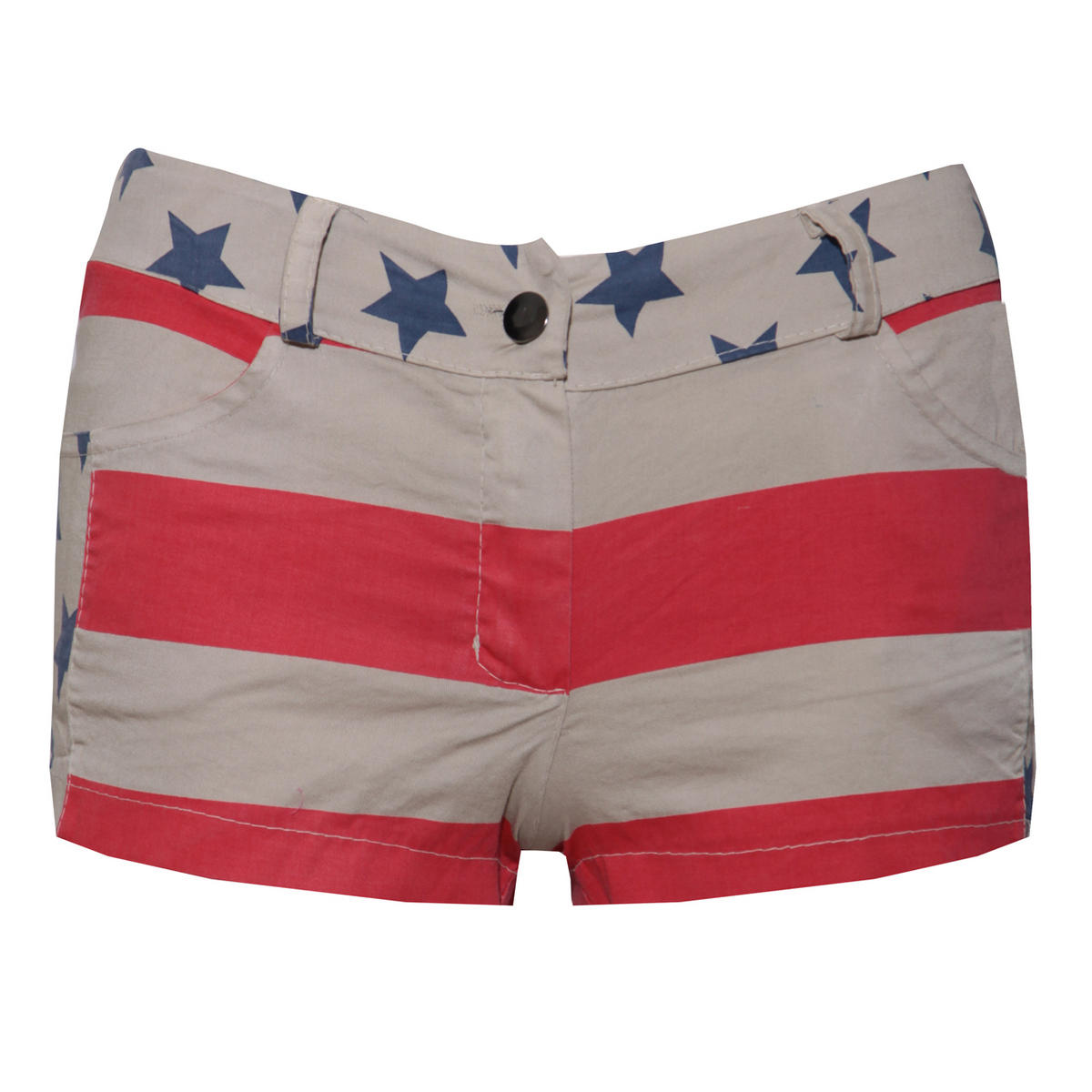 American Flag Short In Beige Preview