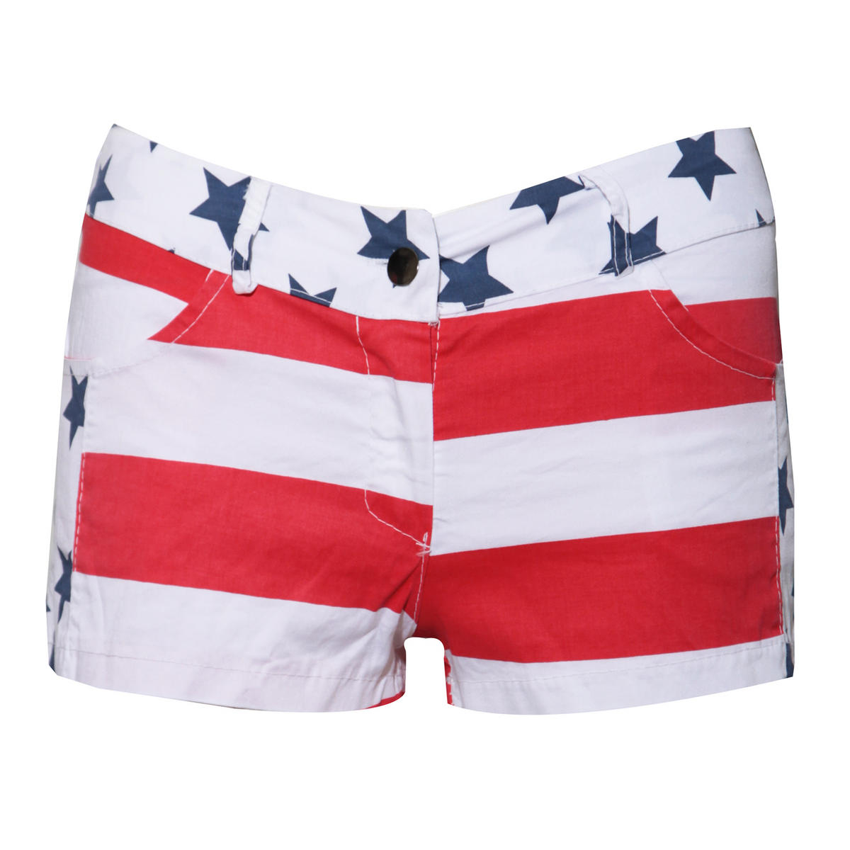 American Flag Short In White Preview