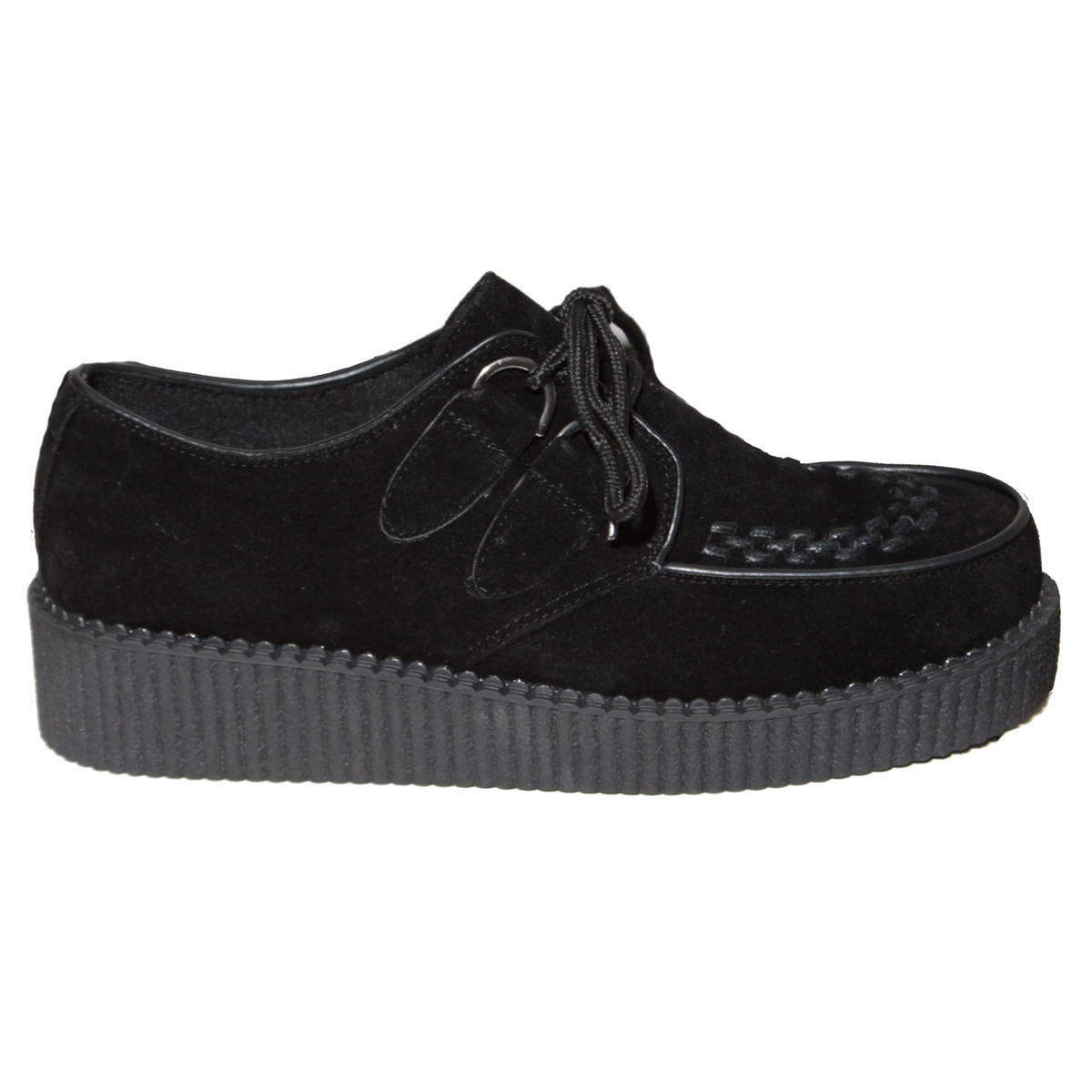 Black Lace Up Creeper Shoe Preview
