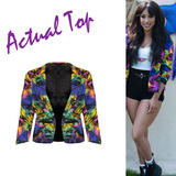 SIZE 10 ONLY Bright Tropical Print Blazer
