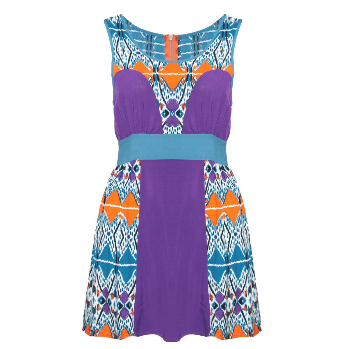 Tribal Print Colour Block Dress Preview