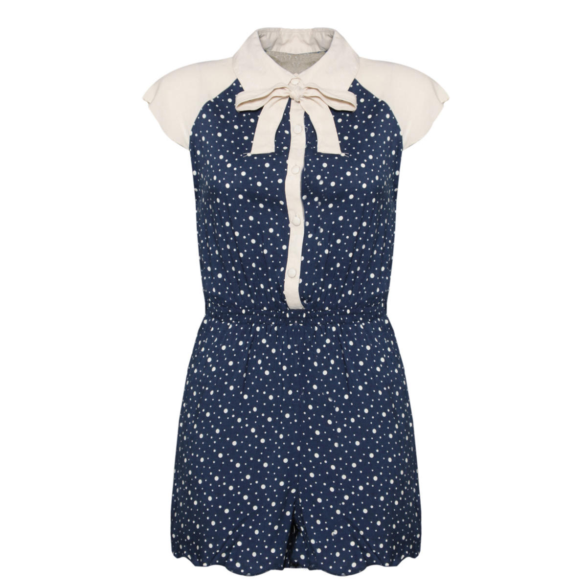 Blue Polka Dot Peter Pan Collar Playsuit Preview