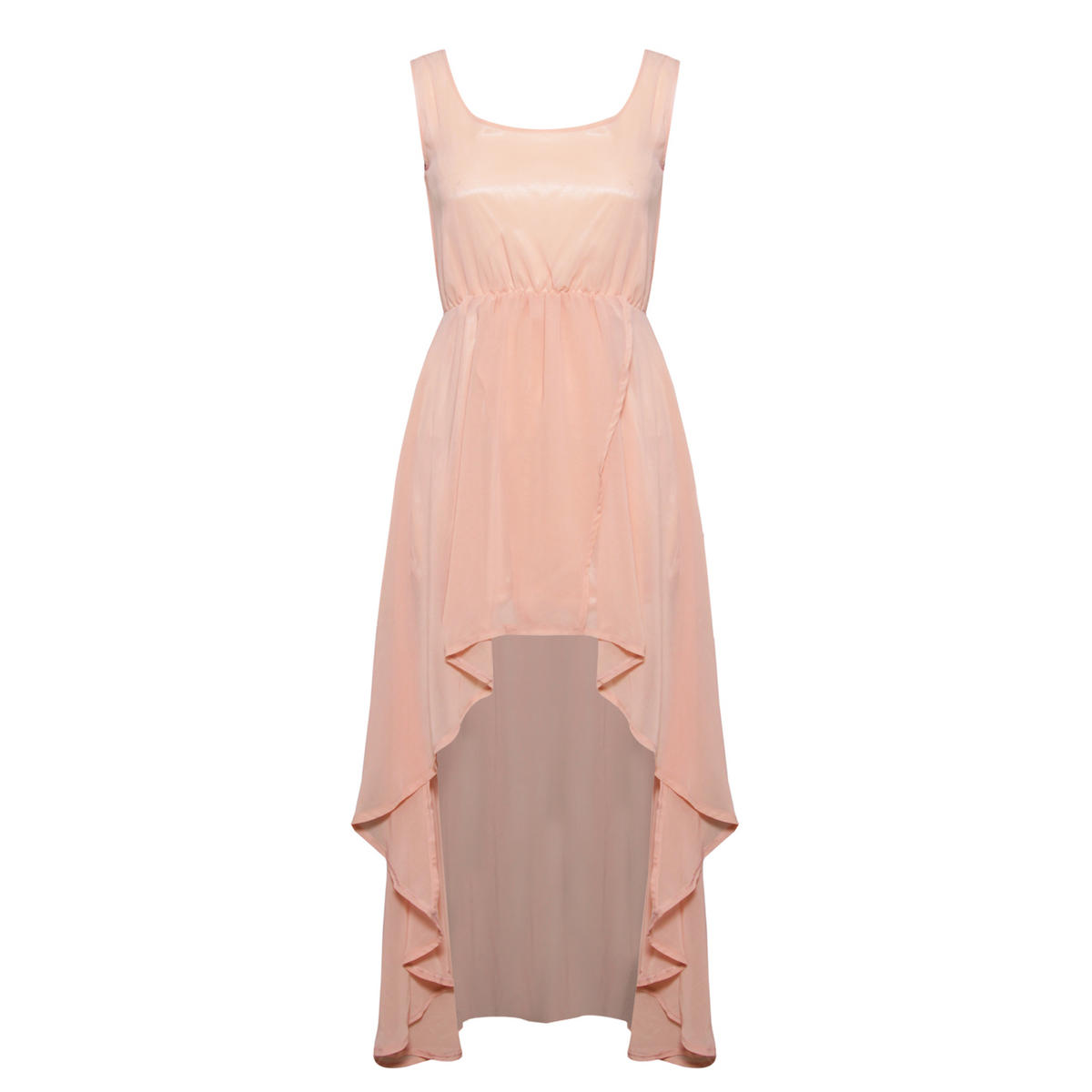 Nude Dip Hem Dress Preview