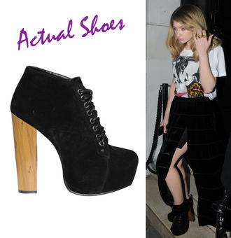 View Item Black Lace Up Ankle Boot