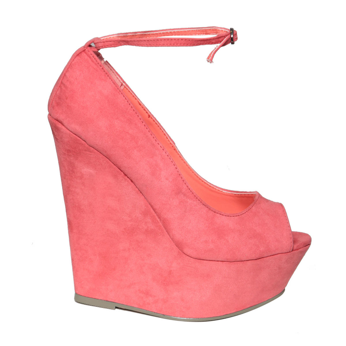 Coral Peeptoe Wedge Shoe Preview