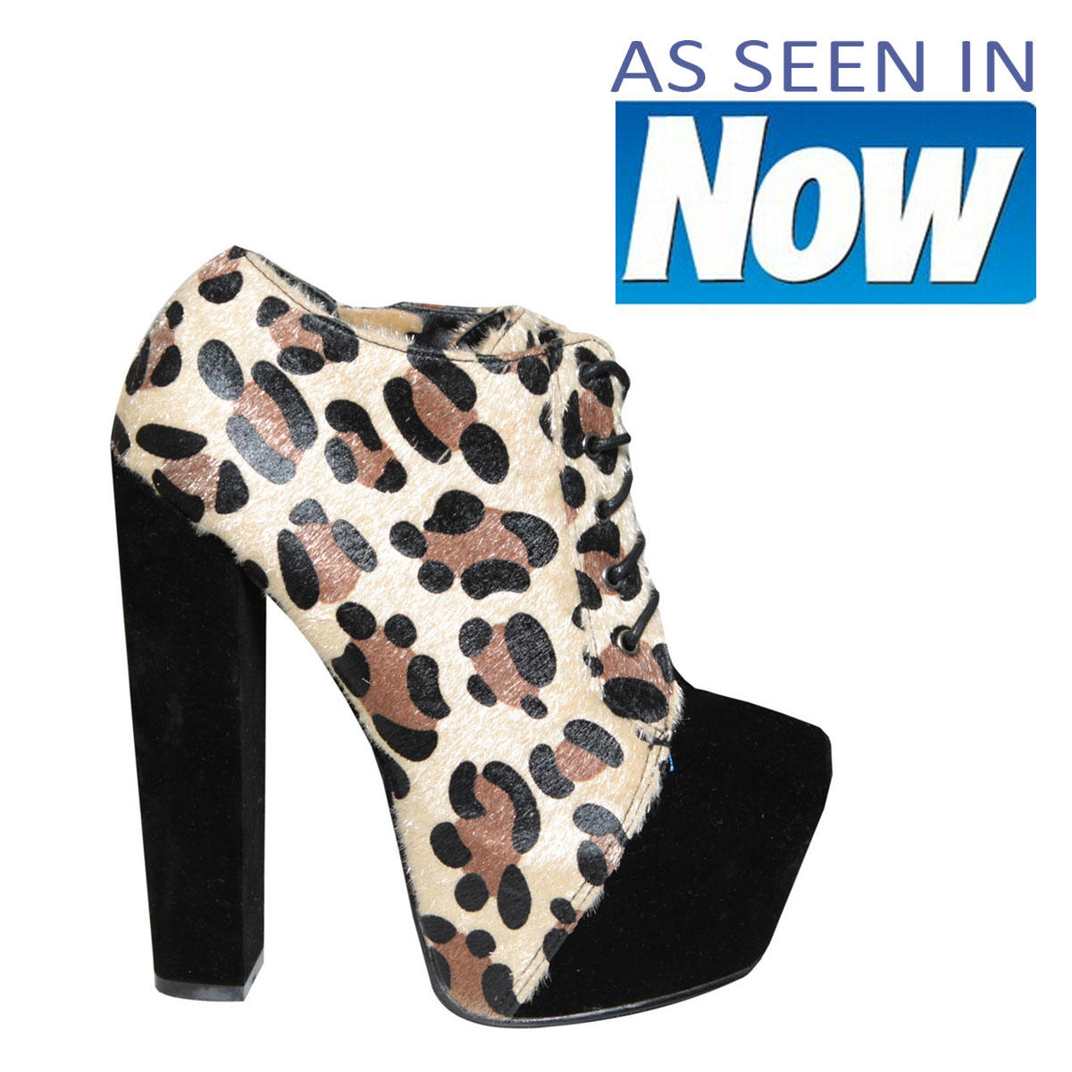 Leopard Print Lace Up Ankle Boot Preview
