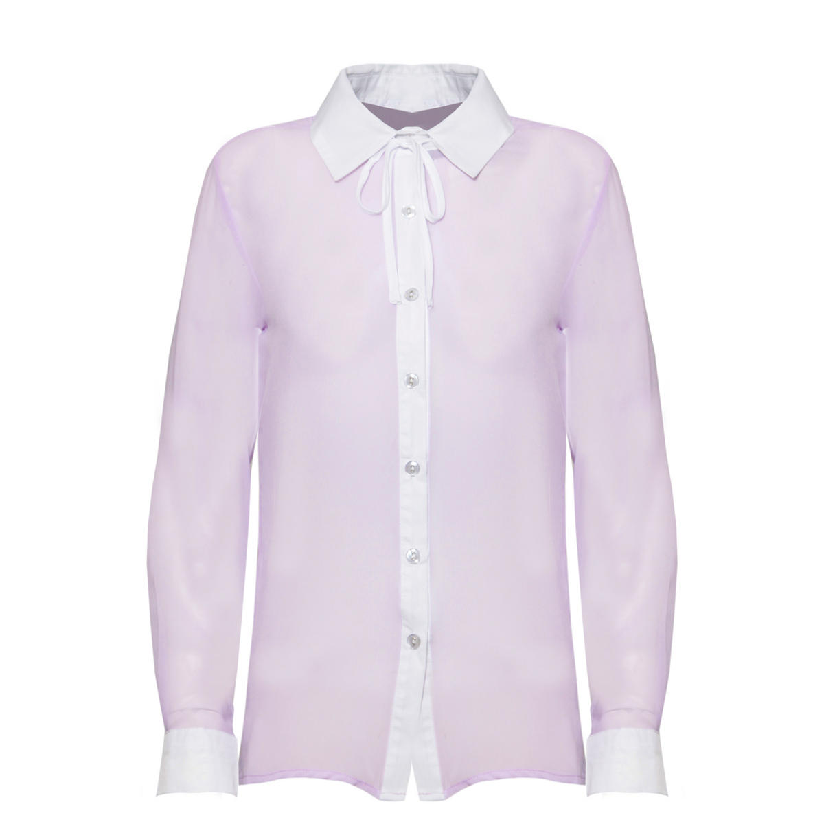Lilac Contrast Bow Shirt Preview