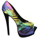 Tropical Print Peeptoe Shoe