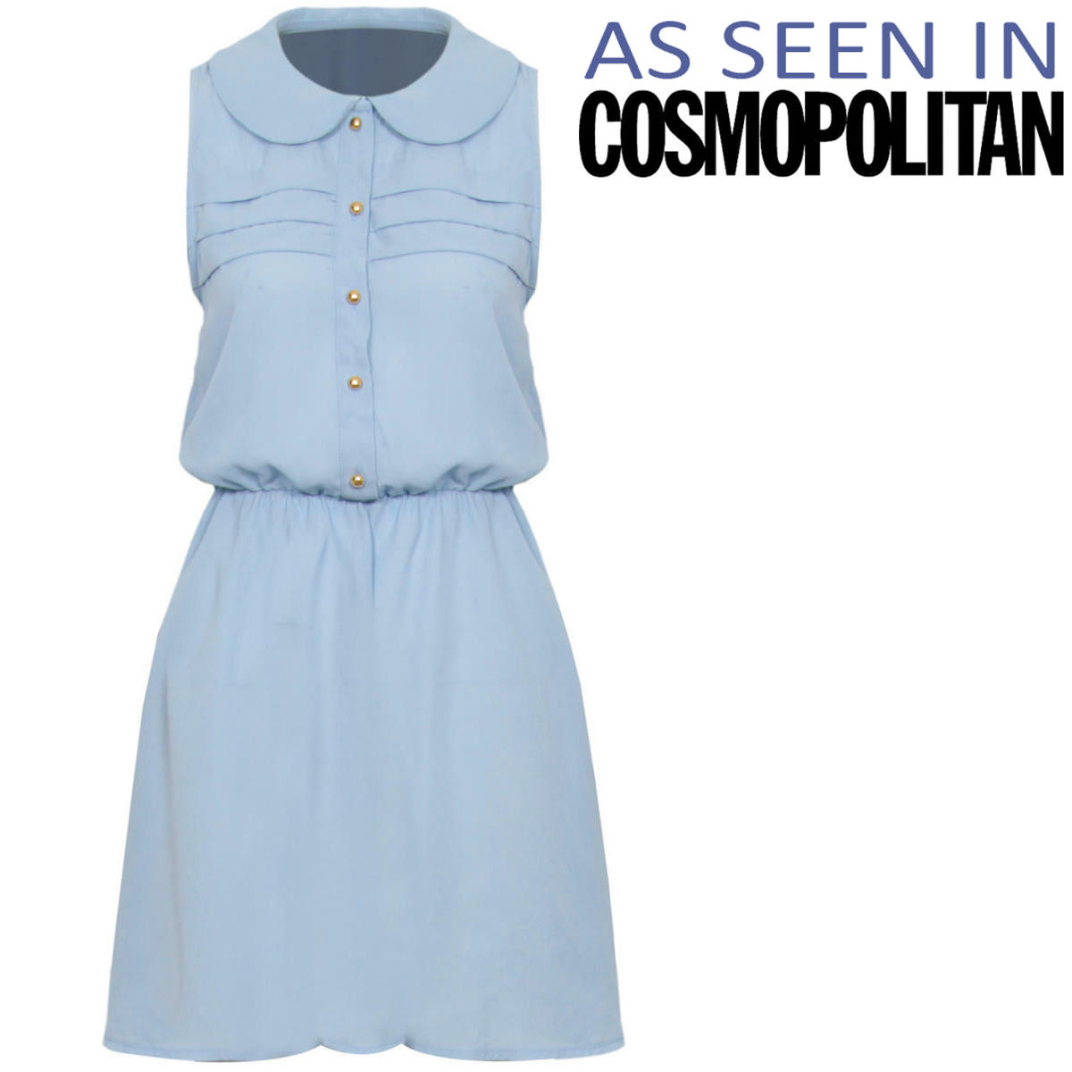 Pastel Blue Peter Pan Collar Dress Preview