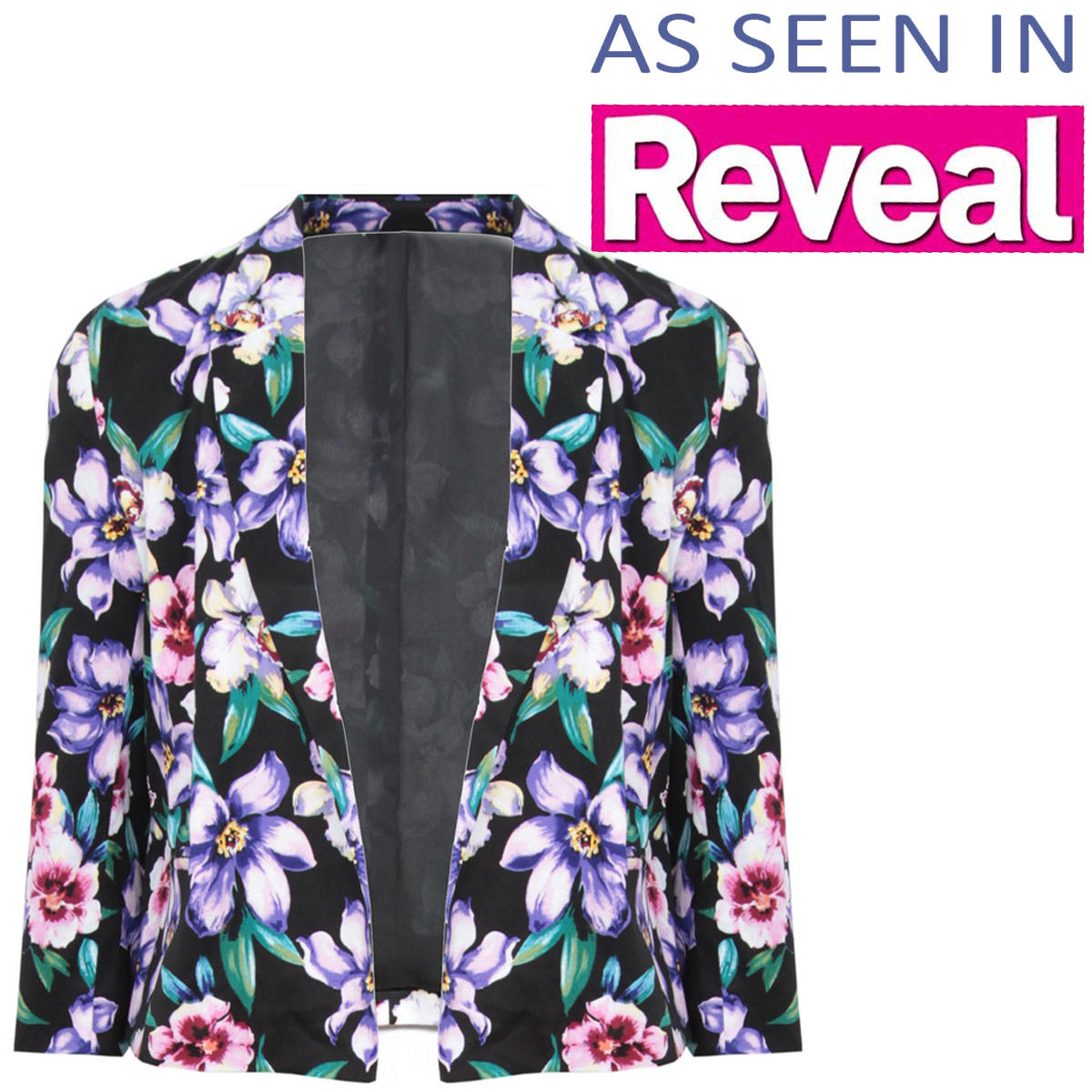 Cropped Floral Print Blazer Preview