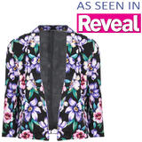 Cropped Floral Print Blazer