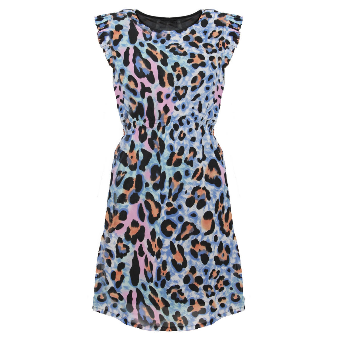 SIZE 8 ONLY Bright Animal Print Shift Dress Preview