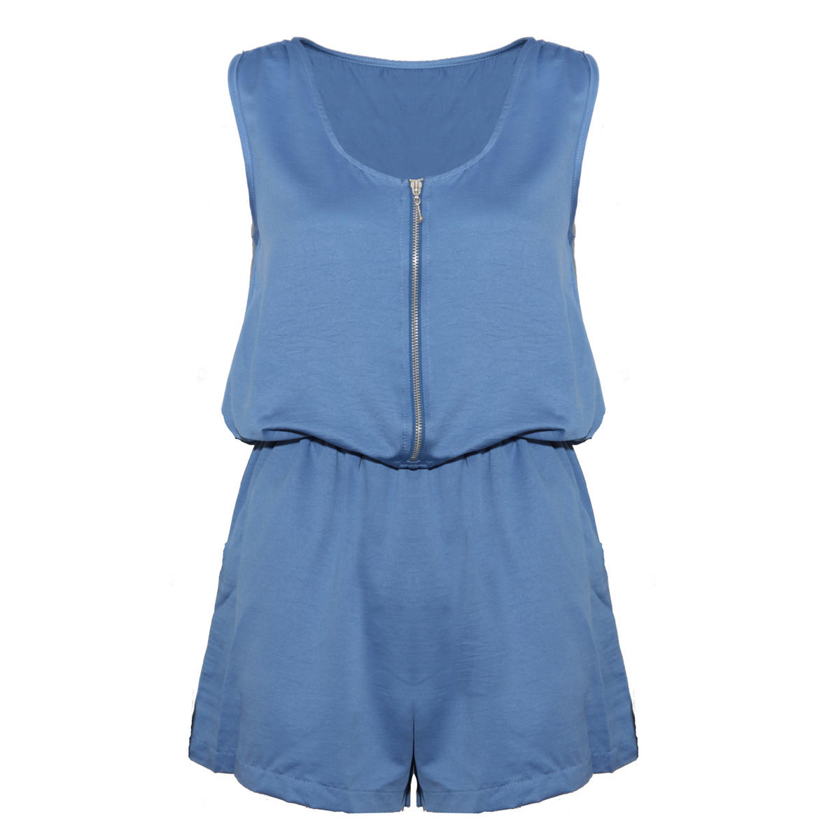 Blue Zip Front Playsuit Preview