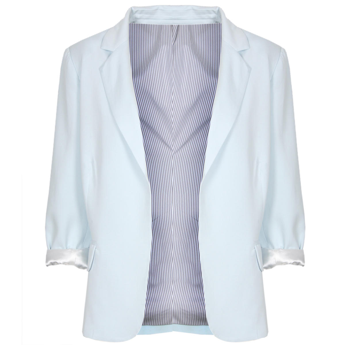 Pastel Blue Tailored Boyfriend Blazer Preview