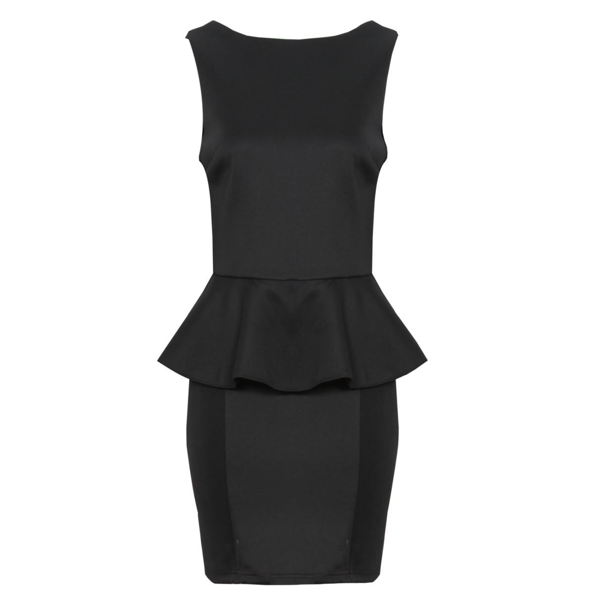 Black Tailored Peplum Dress Preview