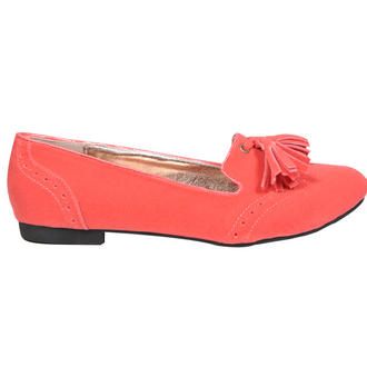 View Item Coral Tassel Flat Slipper Shoe