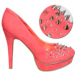 Coral Spike Studded Platform Shoe